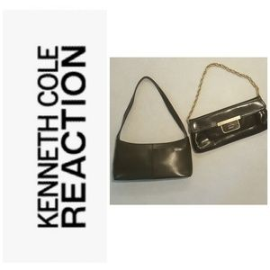 Bundle of Kenneth Cole leather baguette & clutch